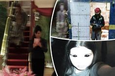 SPOOKY: Dawn, left, captured a ghost on camera when posing in the mirror at The Ritz Scary Places, Haunted Places, Haunted Houses, Ghost Pictures, Weird Pictures, Ghost Caught On Camera, Best Ghost Stories, Spirit Photography, Creepy Images