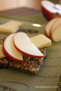Livin'Spoonful crackers with apple slices and cheese make an easy after school snack. Read the recipe on our blog...
