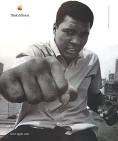 1998 Think Different Ad Featuring Muhammad Ali.