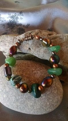 Green stone bracelet, FoothillDesigns, Etsy, $18