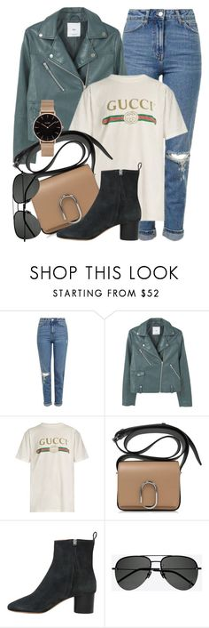 """""""#ootd"""" by monmondefou ❤ liked on Polyvore featuring Topshop, MANGO, Gucci, Isabel Marant, Yves Saint Laurent and CLUSE"""