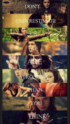 Tris (Divergent) Katniss (hunger games), Lucy pevensie (narnia) hermoine granger (harry potter) percy jackson, the mortal instruments. Fangirl, Citations Film, The Hunger Games, Hunger Games Trilogy, We Are Strong, Strong Women, Strong Girls, Film Serie, John Green