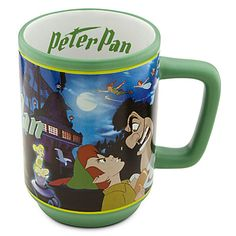 "Let Peter Pan and Captain Hook fight it out over your morning coffee! PETER PAN ""MOVIE MAGIC"" COFFEE MUG (from Walt Disney's ""Peter Pan"")"