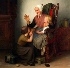 Johann Georg Meyer von Bremen - With the Grandmother
