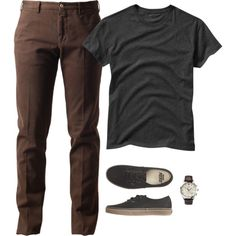 Not sure I like brown pants, but the fit/cut looks nice. Stylish Men, Men Casual, Casual Wear, Look Man, Casual Outfits, Fashion Outfits, Men's Outfits, Look Chic, Men Looks
