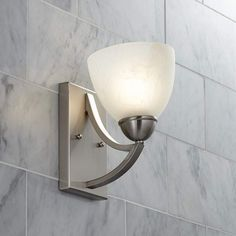 "Possini Euro Milbury Marbleized Glass 9"" High Wall Sconce - #T8974 | Lamps Plus"
