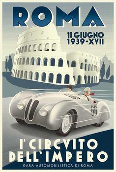 Retro Italian Racing Posters on Behance