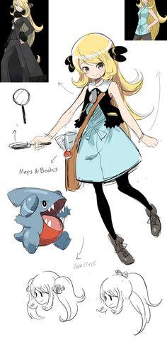 Rough concept of young Cynthia/Shirona, the Pokemon archeologist. Pokemon People, All Pokemon, Pokemon Fan Art, Pokemon Games, Pokemon Cynthia, Pearl Fanart, Pikachu, Pokemon Champions, Pokemon Special