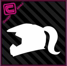 Girl Racing Helmet MX Motorcross 4x4 ATV Dirt Sand Fox Monster Decals Stickers | eBay