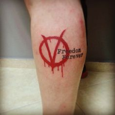 V for vendetta tattoo by john vogdo