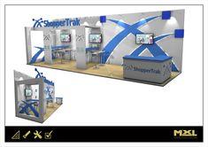 Exhibition stand design with semi private demo areas