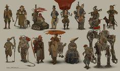 ArtStation - Project RISE color sketches, Simon Dubuc