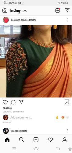Sari Dress, Saree Blouse, Wedding Blouses, Work Blouse, Indian Sarees, Blouse Designs, Girls Dresses, Fashion, Indian Saris