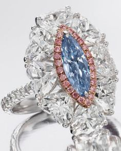 Rare Fancy Vivid Blue Diamond Ring