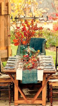 fall tablescape...