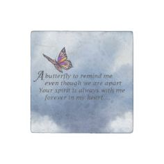 Butterfly Memorial Poem Tile   Zazzle.com Easy Baby Back Ribs Recipe, Memorial Poems, Love Poems, Office Gifts, Tile, Butterfly, Memories, Quotes, Brother