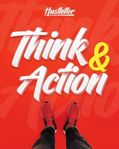 """Check out my @Behance project: """"Think Action font"""" https://www.behance.net/gallery/62571821/Think-Action-font"""