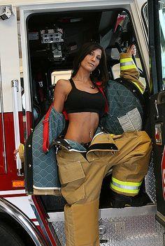 https://flic.kr/p/7H1JGo | Sexy Firefighter Calendar Girl | Sexy Firefighter Calendar Girl for 2010 Poster for 911 Safety Equipment.