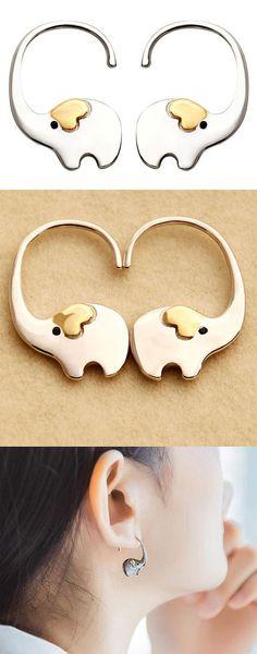 925 Silver Cartoon Fish Octopus Stud Earrings Animal Double Side Women Earrings