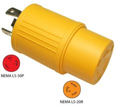 Conntek 30224-YW 3-Prong 30A to 3-Prong 20A Generator Plug Adapter. More info: http://conntek.com/products.asp?id=498