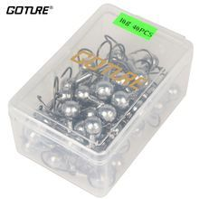 Goture 20-50pcs Lead Jig Head Fishing Hook Carbon Steel Fishhooks 1-20g For Soft Lure With Lure Tackle Box  $US $6.99 & FREE Shipping //   http://fishinglobby.com/goture-20-50pcs-lead-jig-head-fishing-hook-carbon-steel-fishhooks-1-20g-for-soft-lure-with-lure-tackle-box/    #fishingrods
