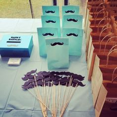 Moustache Baby Shower Moustache Party, Mustache Birthday, 1st Boy Birthday, 1st Birthday Parties, Birthday Ideas, Baby Shower Games, Baby Boy Shower, Second Baby Showers, 1st Birthday Photoshoot