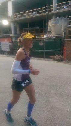 Smiling keeps positivity near. Nearing mile 13 of the 2014 Ironman Wisconsin marathon.