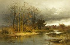 November by Benjamin Williams Leader Date painted: 1884 Oil on canvas, 59.2 x 92 cm Collection: Bristol Museums, Galleries & Archives