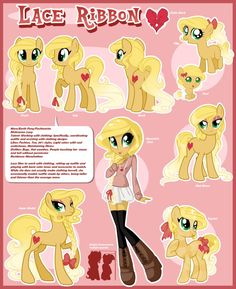 Lace Ribbon Reference Sheet by MagicaRin on DeviantArt