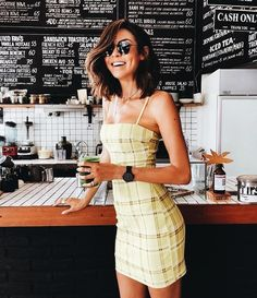 Cute casual two piece outfit. Vestidos Vintage, Women's Dresses, Cute Dresses, Summer Dresses, Casual Outfits, Cute Outfits, Fashion Outfits, Fashion Clothes, Spring Summer Fashion