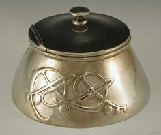 archibald knox, liberty & co - tudric pewter inkwell 1902 england