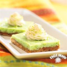 Almond Key Lime Bars from Eagle Brand® are the perfect combination of sweet and tart!