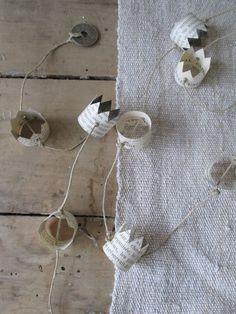DIY paper crown garland