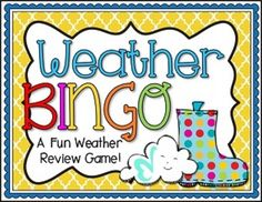 This is a fun way for students to review weather terms. This review game cover the following concepts: Earth's Atmosphere, Weather Fronts, Weather Maps, Weather Tools, & Severe Weather. Includes 24 pre-made game cards, and an additional blank card.