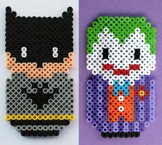 Batman and Joker by ThePlayfulPerler