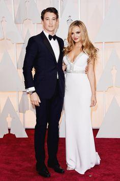 Pin for Later: Cette Année, les Oscars Etaient une Affaire de Couples Miles Teller et Keleigh Sperry