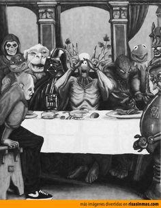 La última cena más friki y rara del mundo.