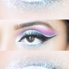 "WEBSTA @ maheen_sh - Frosted❄️EYES: ✨ @benefitcosmetics Erase Paste ✨ @morphebrushes 35B palette for the purple cutcrease and inner corner white highlight ✨ @urbandecaycosmetics Naked Palette 2 ""Blackout"" on the outer corner wing and half lid ✨ @inglot_usa AMC gel eyeliner 77 to darken and sharpen the wing ✨ @nyxcosmetics Jumbo pencil Milk as white mascara on the lower lashline and over the lid LASHES: ✨ Super gorgeous @kokolashes in the style ""Koko"" #hudabeauty #vegas_nay #kokolashes…"
