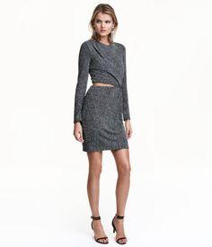 Glitzerndes Kleid   Dunkelgrau/Silberfarben   Damen   H&M AT