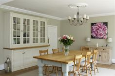 Kitchen in Farrow and Ball paint found on their inspiration page. Perfect idea for your country home.