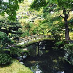 "livesunique: ""Garden of the Emperor's Residence, Kyoto Imperial Palace, Japan "" Japan Garden, Garden Pond, Garden Bridge, Kyoto Garden, Herb Garden, Garden Art, Garden Plants, Beautiful Landscapes, Beautiful Gardens"