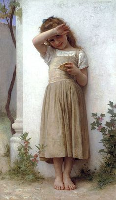 William-Adolphe Bouguereau (1825-1905) - In Penitence (1895).                                                                                                                                                      More