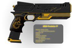 Shadowrun - Ares Predator IV - Modified Version by BenGunI.deviantart.com on @DeviantArt