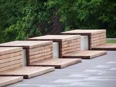in built timber seating- this is really interesting
