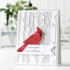 It's hard to believe that cardinal is a stamp! Hero Arts has perfected the layered stamp and we are obsessed!