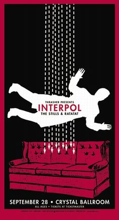 Interpol Concert Poster by Mike King (SOLD OUT)
