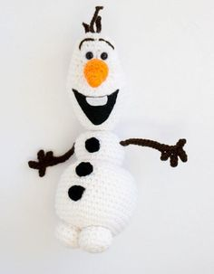 Build a snowman...with yarn. Make this Olaf from Frozen Crochet Pattern today.
