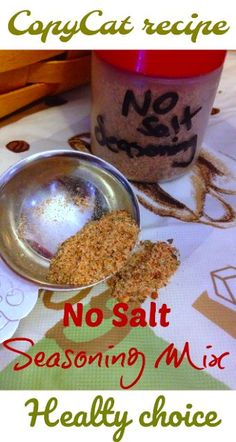 Easy CopyCat Recipe - Homemade No Salt Seasoning {Healthy Recipes} - easy peasy . - Easy CopyCat Recipe – Homemade No Salt Seasoning {Healthy Recipes} – easy peasy - No Sodium Foods, Low Sodium Diet, Low Sodium Recipes, Low Sodium Meals, Salt Free Recipes, Healthy Gluten Free Recipes, Salt Free Bbq Sauce Recipe, Healthy Meals, Salt Free Seasoning