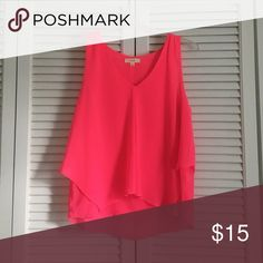 Hot Pink Swing Tank Top Super fun and summery hot pink tank looking for her forever home! Excellent used condition as it is new without tags! Gorgeous top, I just don't find myself reaching for it ever 🎀 E and M Tops Tank Tops