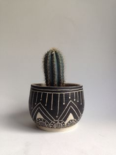 T U S C O N || tribal stoneware planter by mbundy on Etsy https://www.etsy.com/listing/203777176/t-u-s-c-o-n-tribal-stoneware-planter